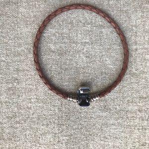 Pandora Jewelry - 🌟Pandora Brown Single Braided Leather Bracelet